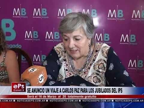 SE ANUNCIO UN VIAJE A CARLOS PAZ PARA LOS JUBILADOS DEL IPS