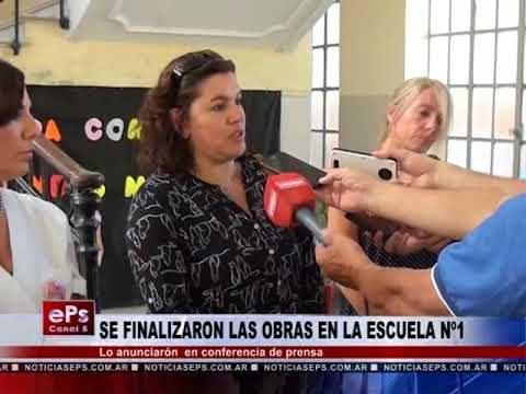 SE FINALIZARON LAS OBRAS EN LA ESCUELA Nº1