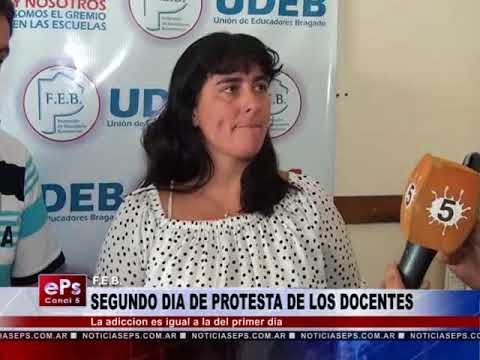 SEGUNDO DIA DE PROTESTA DE LOS DOCENTES