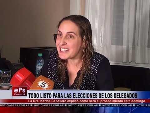TODO LISTO PARA LAS ELECCIONES DE LOS DELEGADOS
