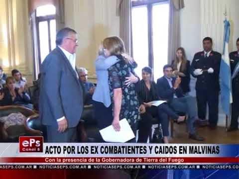 ACTO POR LOS EX COMBATIENTES Y CAIDOS EN MALVINAS