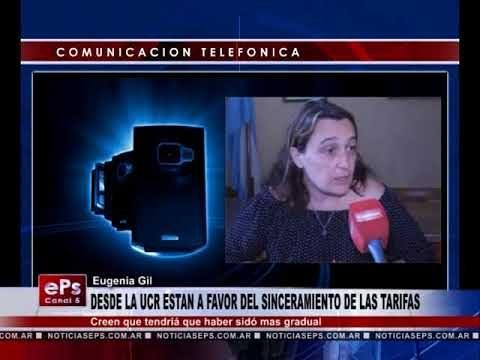 DESDE LA UCR ESTAN A FAVOR DEL SINCERAMIENTO DE LAS TARIFAS