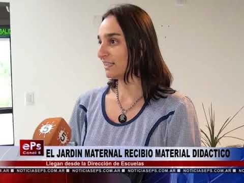 EL JARDIN MATERNAL RECIBIO MATERIAL DIDACTICO