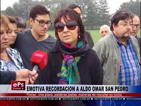 EMOTIVA RECORDACION A ALDO OMAR SAN PEDRO