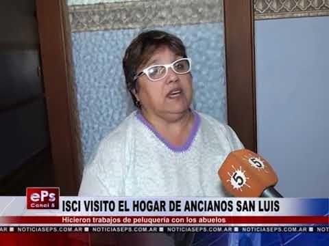 ISCI VISITO EL HOGAR DE ANCIANOS SAN LUIS