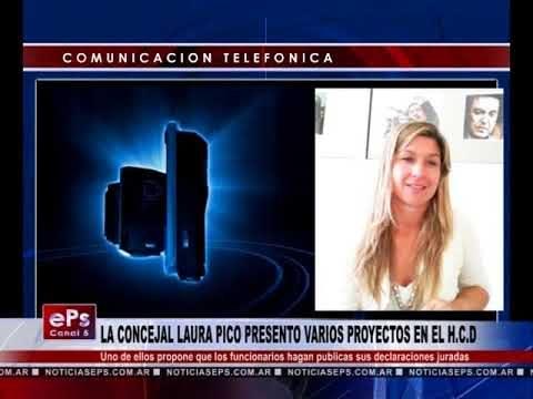 LA CONCEJAL LAURA PICO PRESENTO VARIOS PROYECTOS EN EL HCD