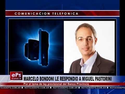 MARCELO BONDONI LE RESPONDIO A MIGUEL PASTORINI