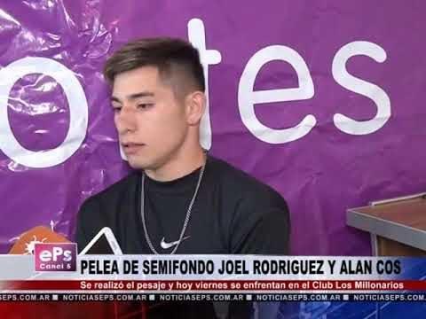 PELEA DE SEMIFONDO JOEL RODRIGUEZ Y ALAN COS