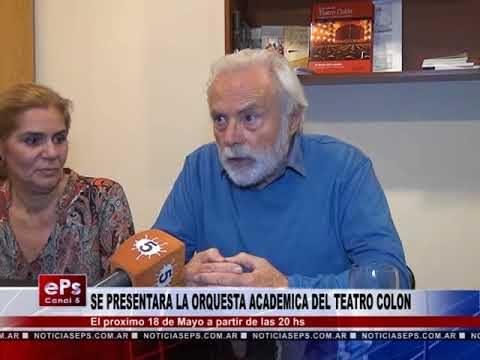 SE PRESENTARA LA ORQUESTA ACADEMICA DEL TEATRO COLON