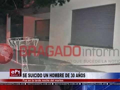 SE SUICIDO UN HOMBRE DE 30 AÑOS
