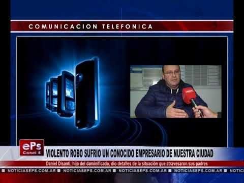 VIOLENTO ROBO SUFRIO UN CONOCIDO EMPRESARIO DE NUESTRA CIUDAD