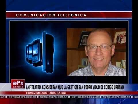 ANFITEATRO CONSIDERAN QUE LA GESTION SAN PEDRO VIOLO EL CODIGO URBANO