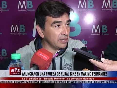 ANUNCIARON UNA PRUEBA DE RURAL BIKE EN MAXIMO FERNANDEZ