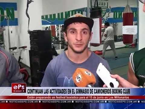 CONTINUAN LAS ACTIVIDADES EN EL GIMNASIO DE CAMIONEROS BOXING CLUB