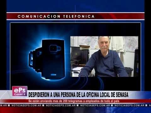 DESPIDIERON A UNA PERSONA DE LA OFICINA LOCAL DE SENASA