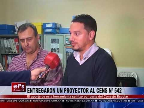 ENTREGARON UN PROYECTOR AL CENS Nº 542