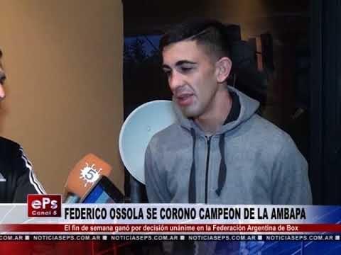 FEDERICO OSSOLA SE CORONO CAMPEON DE LA AMBAPA