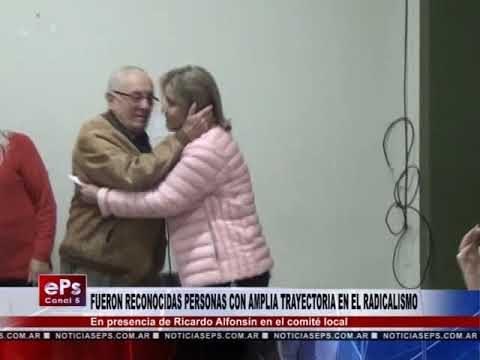 FUERON RECONOCIDAS PERSONAS CON AMPLIA TRAYECTORIA EN EL RADICALISMO