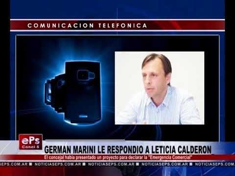 GERMAN MARINI LE RESPONDIO A LETICIA CALDERON