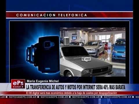 LA TRANSFERENCIA DE AUTOS Y MOTOS POR INTERNET SERA 40% MAS BARATA