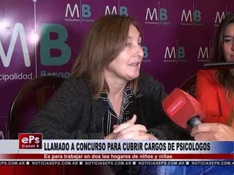 LLAMADO A CONCURSO PARA CUBRIR CARGOS DE PSICOLOGOS