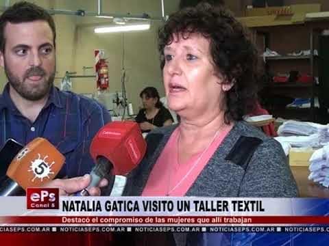 NATALIA GATICA VISITO UN TALLER TEXTIL