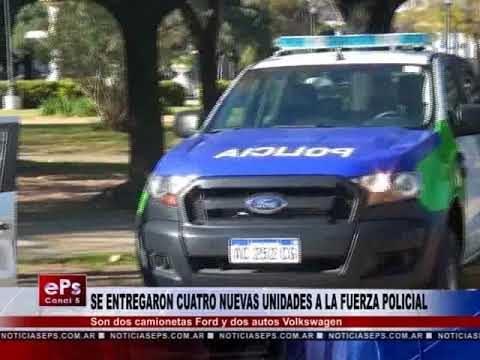 SE ENTREGARON CUATRO NUEVAS UNIDADES A LA FUERZA POLICIAL