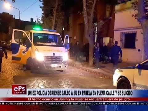 UN EX POLICIA OBRIENSE BALEO A SU EX PAREJA EN PLENA CALLE Y SE SUICIDO