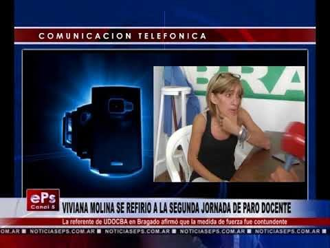 VIVIANA MOLINA SE REFIRIO A LA SEGUNDA JORNADA DE PARO DOCENTE