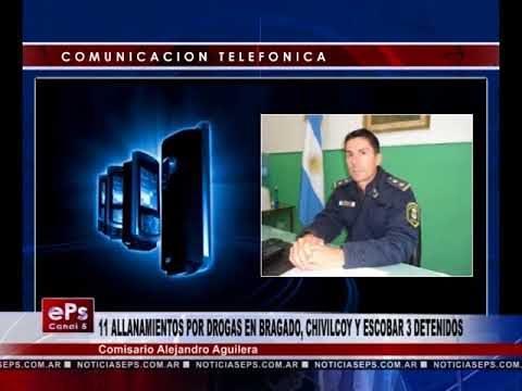 11 ALLANAMIENTOS POR DROGAS EN BRAGADO, CHIVILCOY Y ESCOBAR 3 DETENIDOS