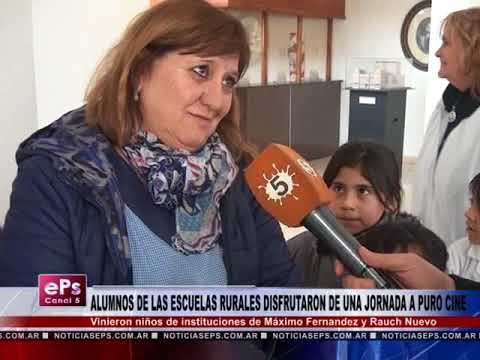 ALUMNOS DE ESCUELAS RURALES DISFRUTARON DE CINE