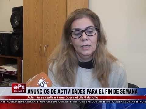 ANUNCIOS DE ACTIVIDADES PARA EL FIN DE SEMANA