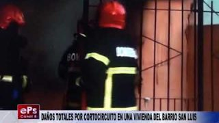 DAÑOS TOTALES POR CORTOCIRCUITO EN UNA VIVIENDA DEL BARRIO SAN LUIS