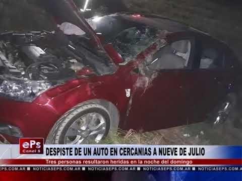 DESPISTE DE UN AUTO EN CERCANIAS A NUEVE DE JULIO
