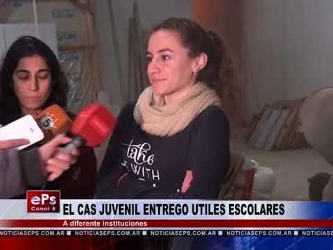 EL CAS JUVENIL ENTREGO UTILES ESCOLARES