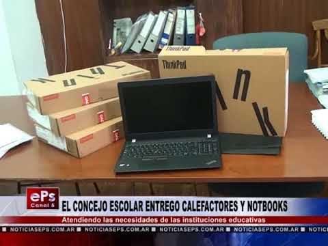 EL CONCEJO ESCOLAR ENTREGO CALEFACTORES Y NOTBOOKS