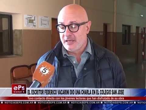 EL ESCRITOR FEDERICO VACARINI DIO UNA CHARLA EN EL COLEGIO SAN JOSE