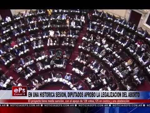 EN UNA HISTORICA SESION, DIPUTADOS APROBO LA LEGALIZACION DEL ABORTO