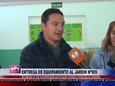 ENTREGA DE EQUIPAMIENTO AL JARDIN Nº909