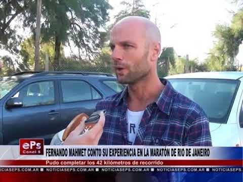 FERNANDO MAHMET CONTO SU EXPERIENCIA EN LA MARATÓN DE RIO DE JANEIRO