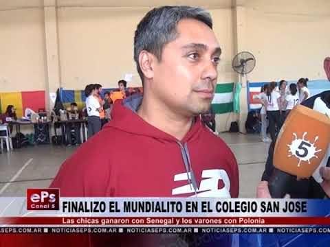 FINALIZO EL MUNDIALITO EN EL COLEGIO SAN JOSE