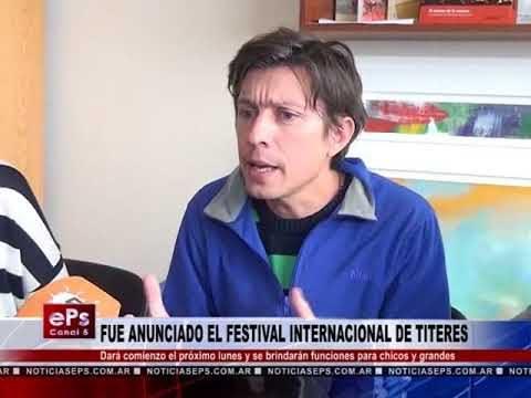 FUE ANUNCIADO EL FESTIVAL INTERNACIONAL DE TITERES