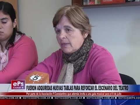 FUERON ADQUIRIDAS NUEVAS TABLAS PARA REFORZAR EL ESCENARIO DEL TEATRO