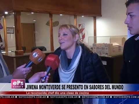 JIMENA MONTEVERDE SE PRESENTO EN SABORES DEL MUNDO