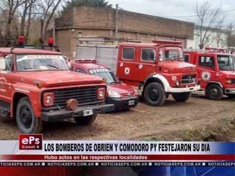 LOS BOMBEROS DE OBRIEN Y COMODORO PY FESTEJARON SU DIA
