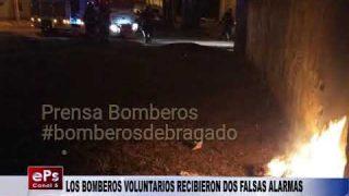 LOS BOMBEROS VOLUNTARIOS RECIBIERON DOS FALSAS ALARMAS