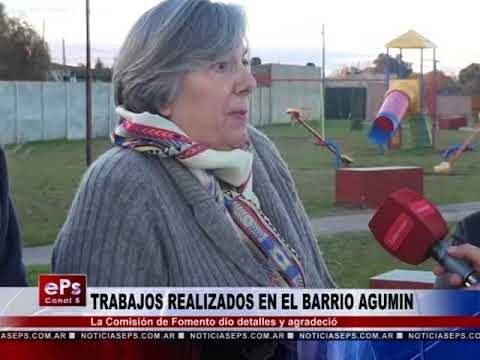 TRABAJOS REALIZADOS EN EL BARRIO AGUMIN