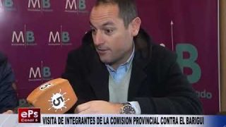 VISITA DE INTEGRANTES DE LA COMISION PROVINCIAL CONTRA EL BARIGUI