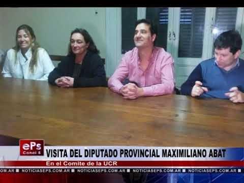VISITA DEL DIPUTADO PROVINCIAL MAXIMILIANO ABAT