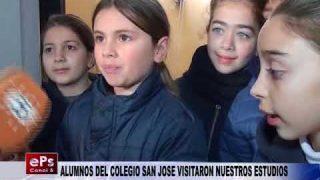 ALUMNOS DEL COLEGIO SAN JOSE VISITARON NUESTROS ESTUDIOS